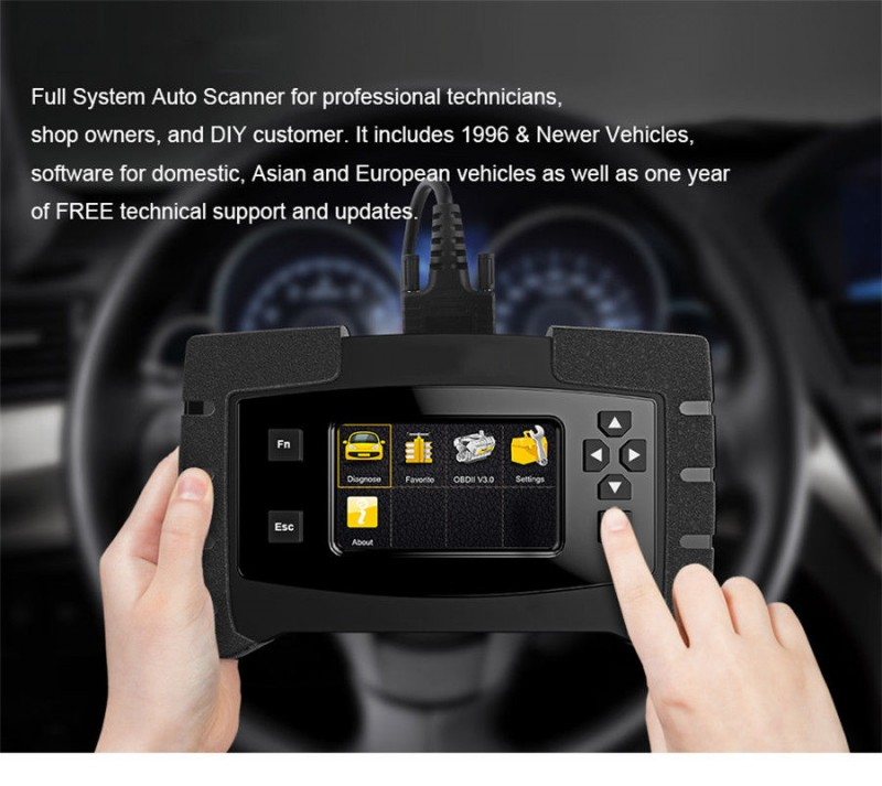 Asiacom | Product: OBD2 OBD II Car Full System Scanner ECU