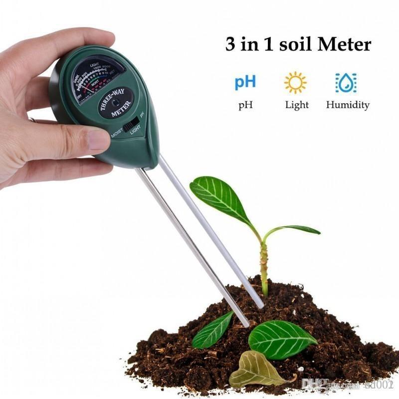 3 in 1 PH Tester Soil Water Moisture Light Test Meter sensor Garden Plant Flower